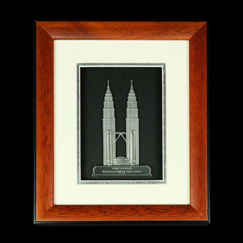 Pewter With Wood Frame (KLCC) - PF399S