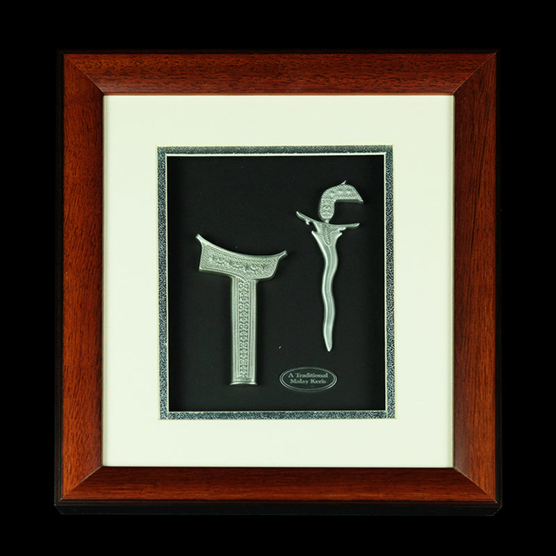 Pewter With Wood Frame (Keris) - PF430S