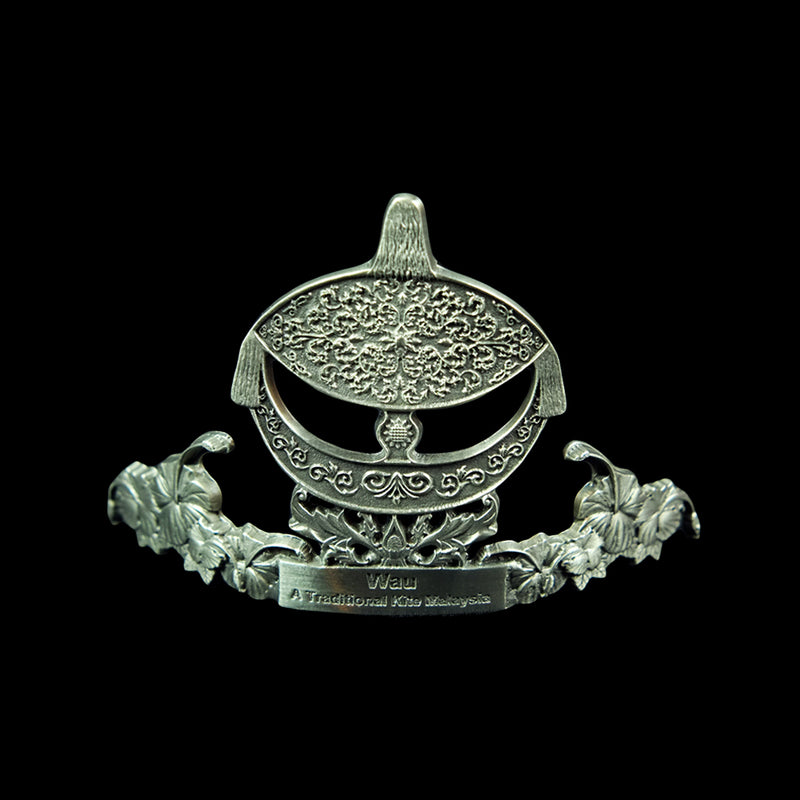 Pewter Name Card Holder (Wau) - PF586S