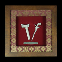 Pewter With Wood Frame (Keris) - PF602S