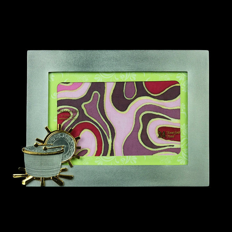 Pewter Photo Frame (Rebana Ubi) - PF614Gs