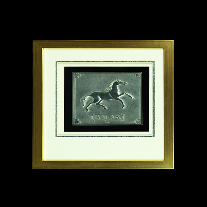Pewter With Wood Frame (Horse) - PF655S