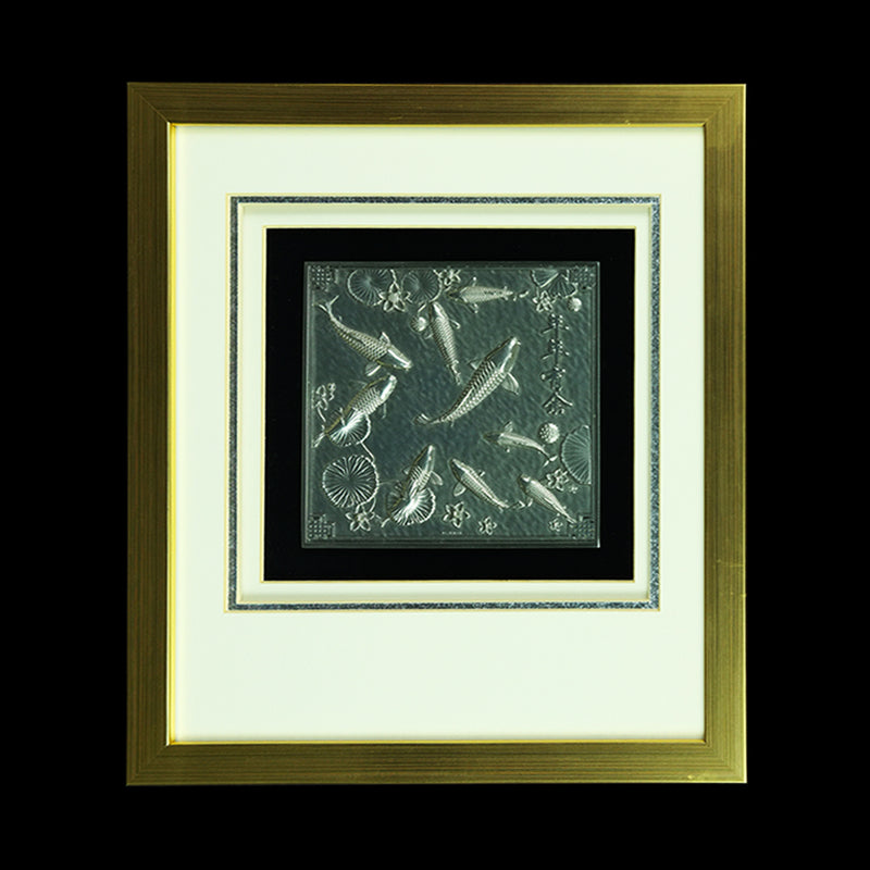 Pewter With Wood Frame (Koi) - PF656S