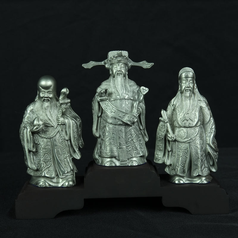 Pewter Figurine (Hock Lok Siew on Wooden Base) - PF9319B_3