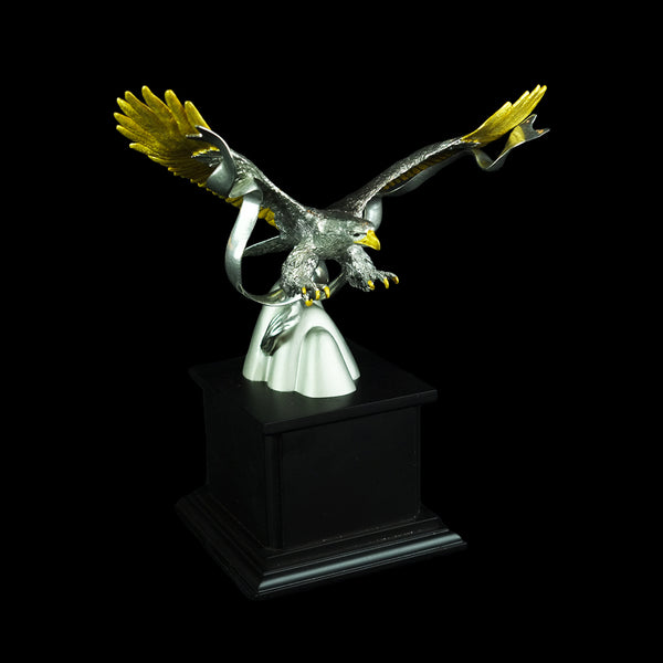 Pewter Figurine (Eagle on Wooden base) - PF9862