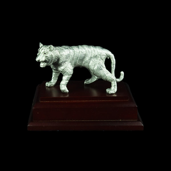 Pewter Figurine (Tiger on Wooden Base) - PF9881S