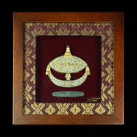 Pewter With Wood Frame (Wau) - PFG598S