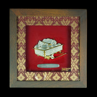Pewter With Wood Frame (Tepak Sireh) - PFG610S