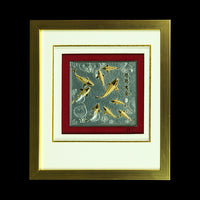 Pewter With Wood Frame (Koi) - PFG656S