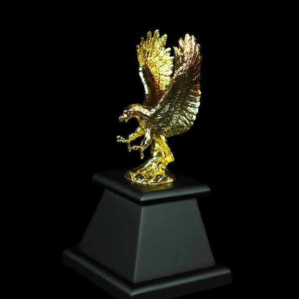 Pewter Figurine (Eagle on Wooden Base) - PFG9308