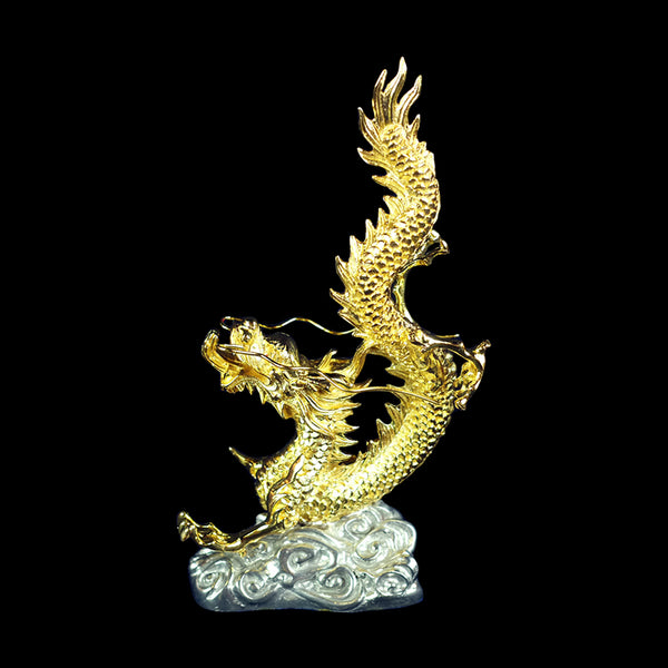 Antique Gold plated Pewter Figurine - Dragon-PFG9566FA