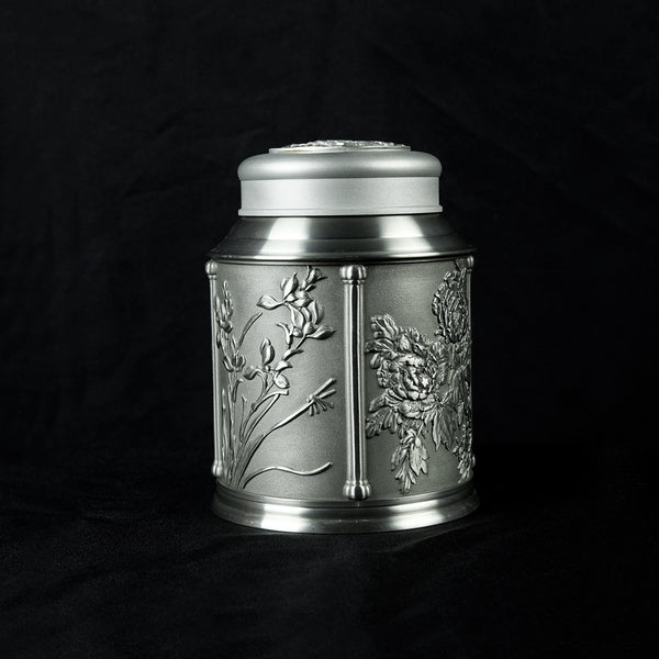 Pewter Tea Caddy 4 Season H16cm- PW5556s