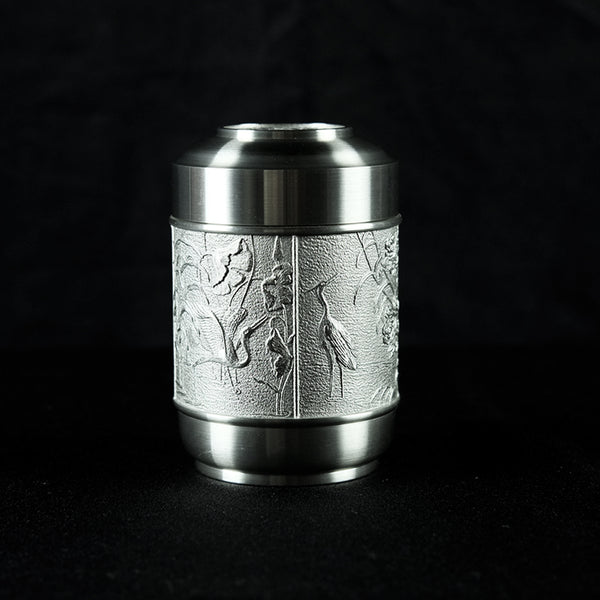 Pewter Tea Caddy Properous -PW5561s