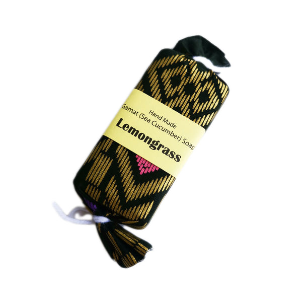 Handmade Sea Cucumber (Gamat) Soap (50g) wrapped in batik cloth