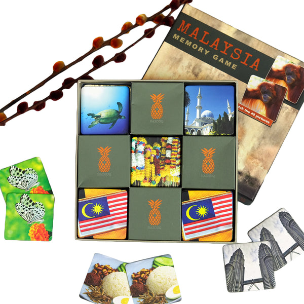 Photo Memory game with Malaysia pictures