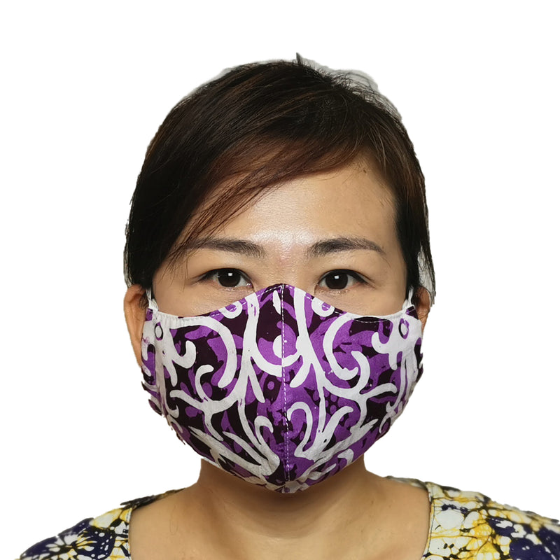 Reusable Batik Face Mask with Malaysian attractive designs