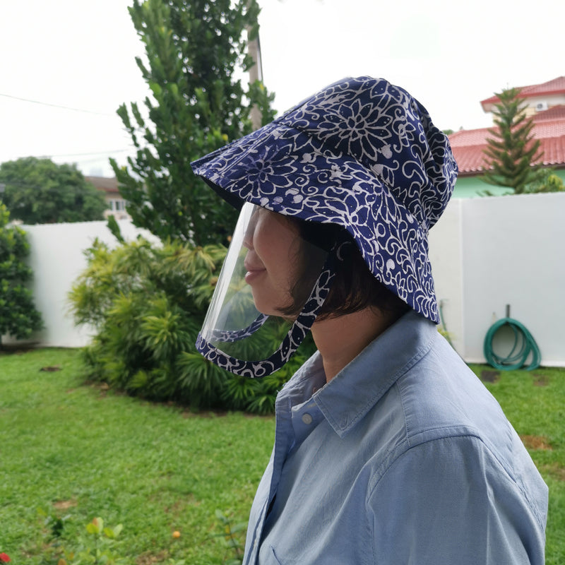 Batik Hat and Face Shield