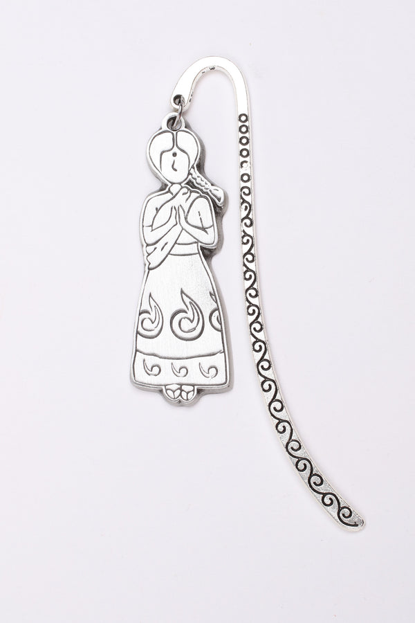 Pewter Bookmark - Gowry in Indian Sari Constume