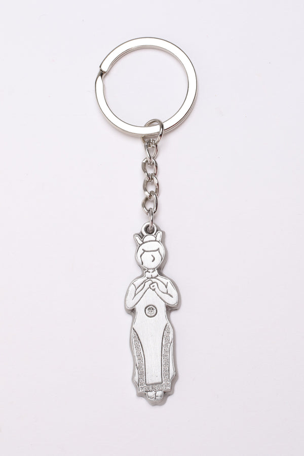Pewter Keychain - Ah Chik in Chinese costume