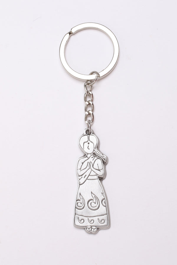Pewter Keychain - Gowry in Indian Sari costume