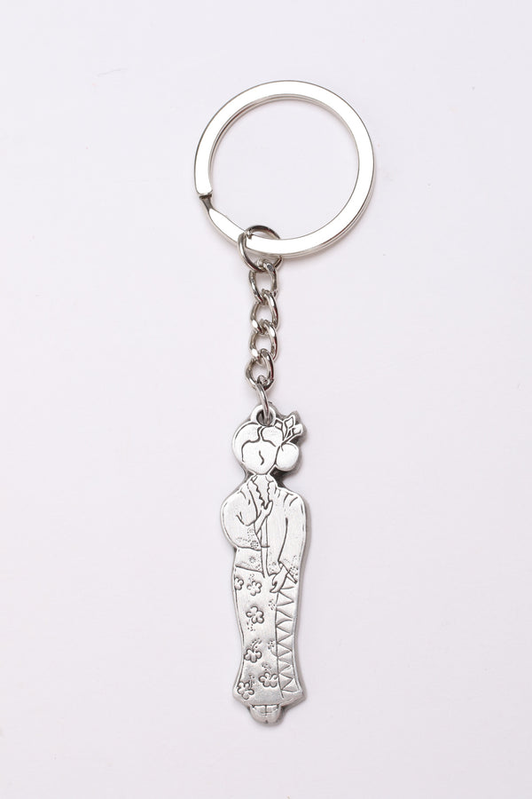 Pewter Keychain - Yati in Malay Kebaya costume