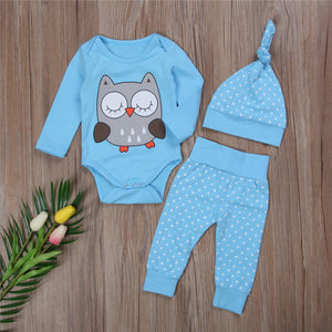 2pcs Cute Owl Set For Baby Boy/Girl