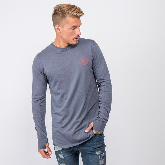 Boston L/S T-Shirt Steel