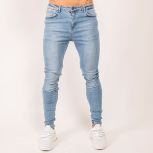 Stoned Denim Jeans - Light Wash BF