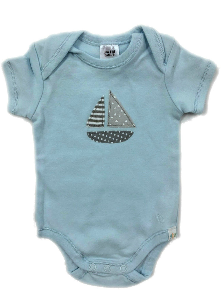 Blue Sailboat Onsie