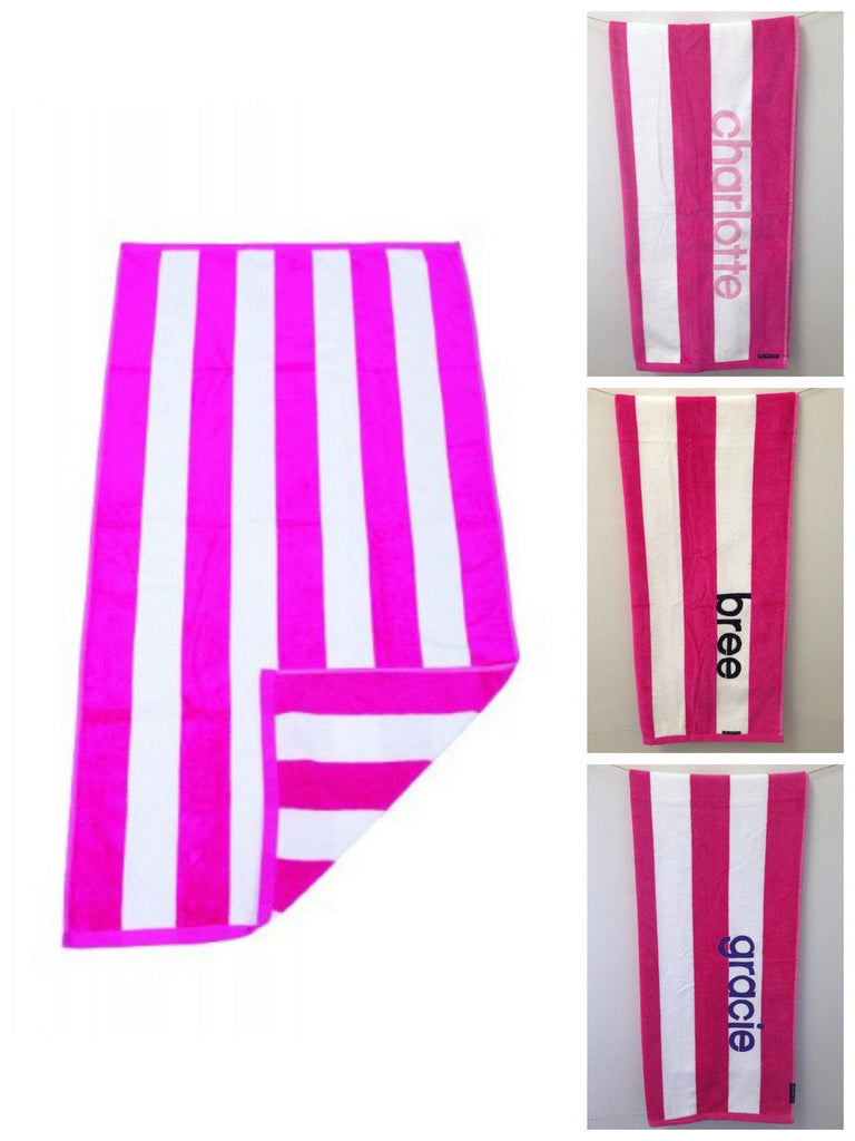 Personalised Beach Towel | Pink
