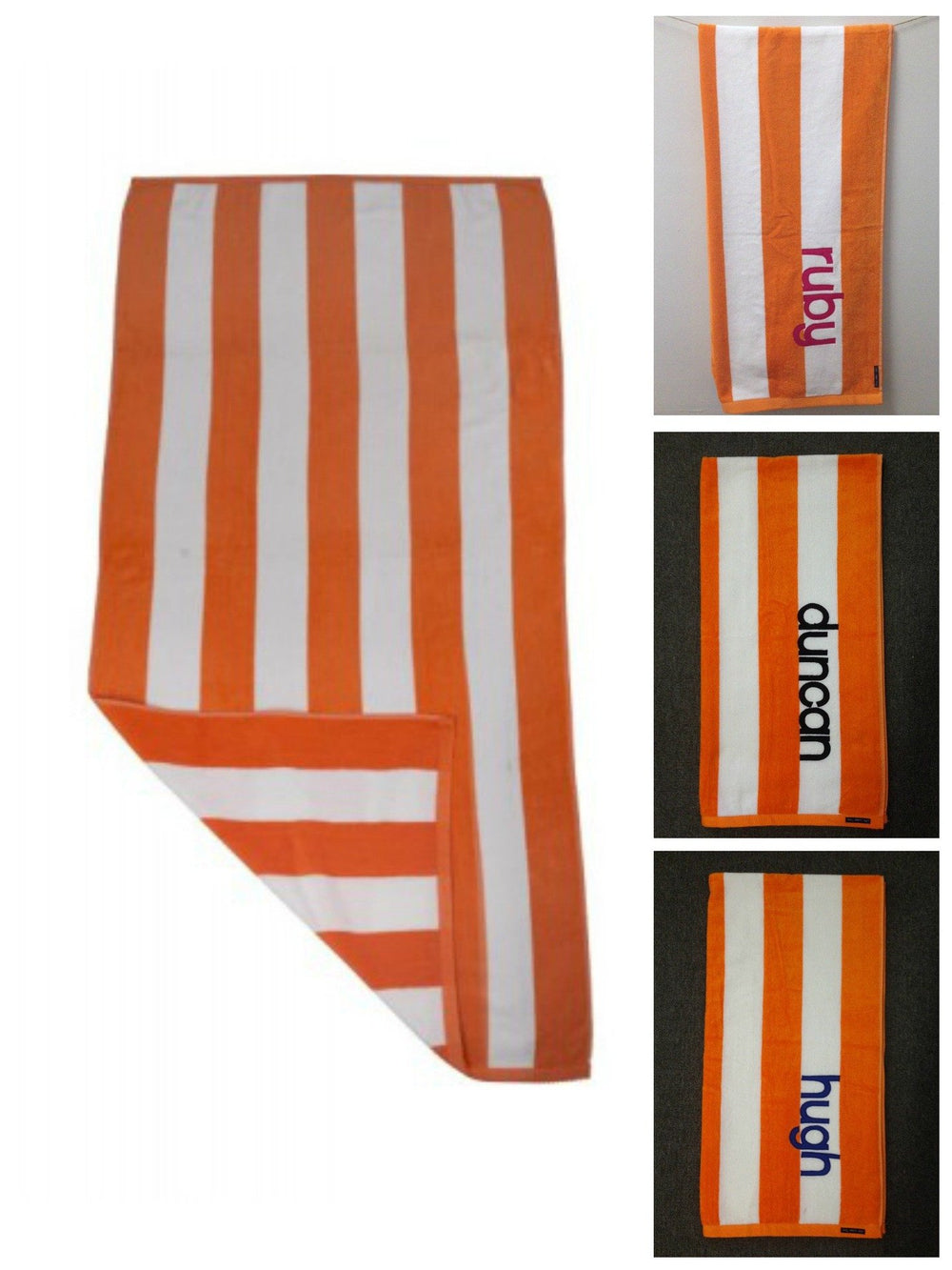 Personalised Beach Towel | Orange