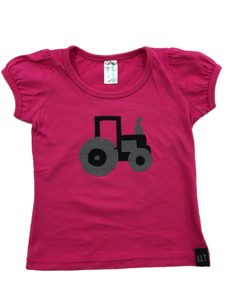 Pink Puff Tractor Tee | Navy