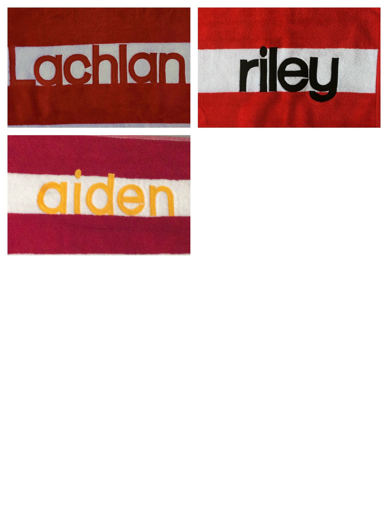Personalised Beach Towel | Red