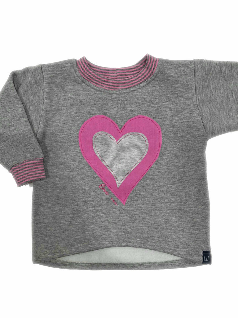 Love Scoop Crew Jumper | Pink