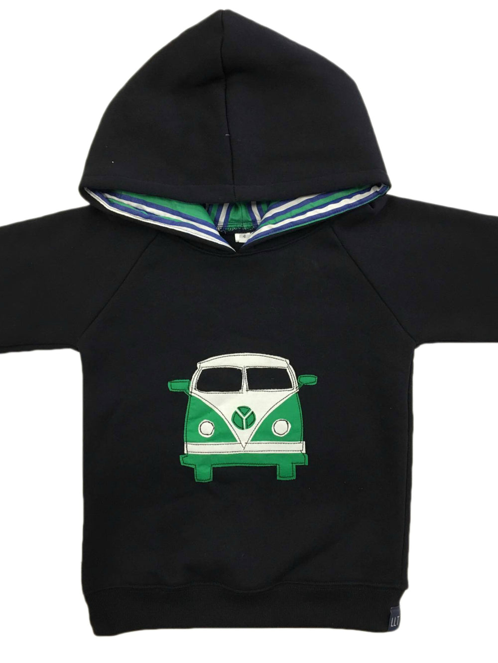 Hoodie | Green Kombi on Navy