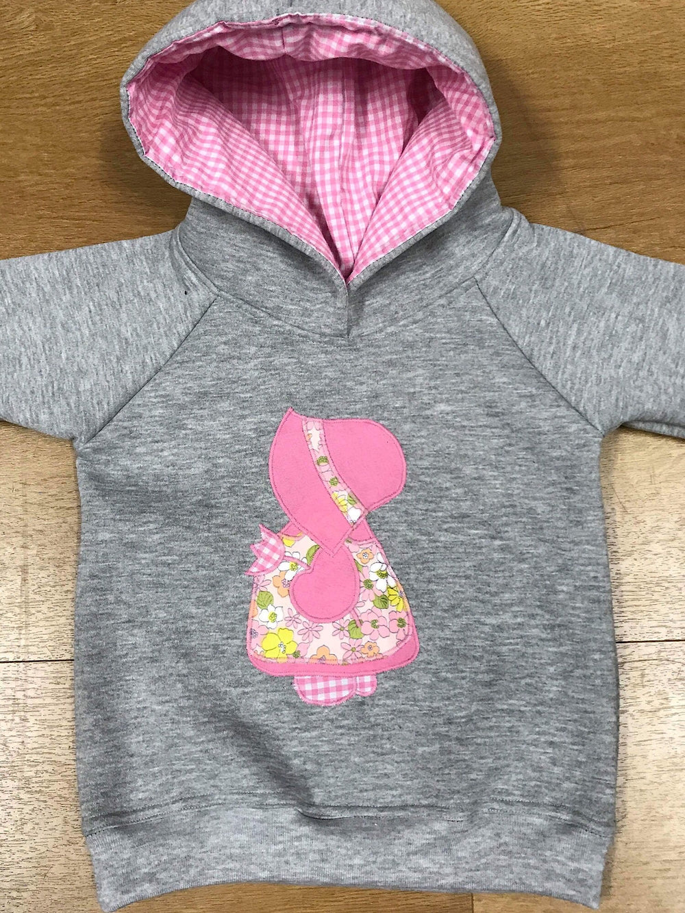 Hobby Doll Hoodie on Grey Marle