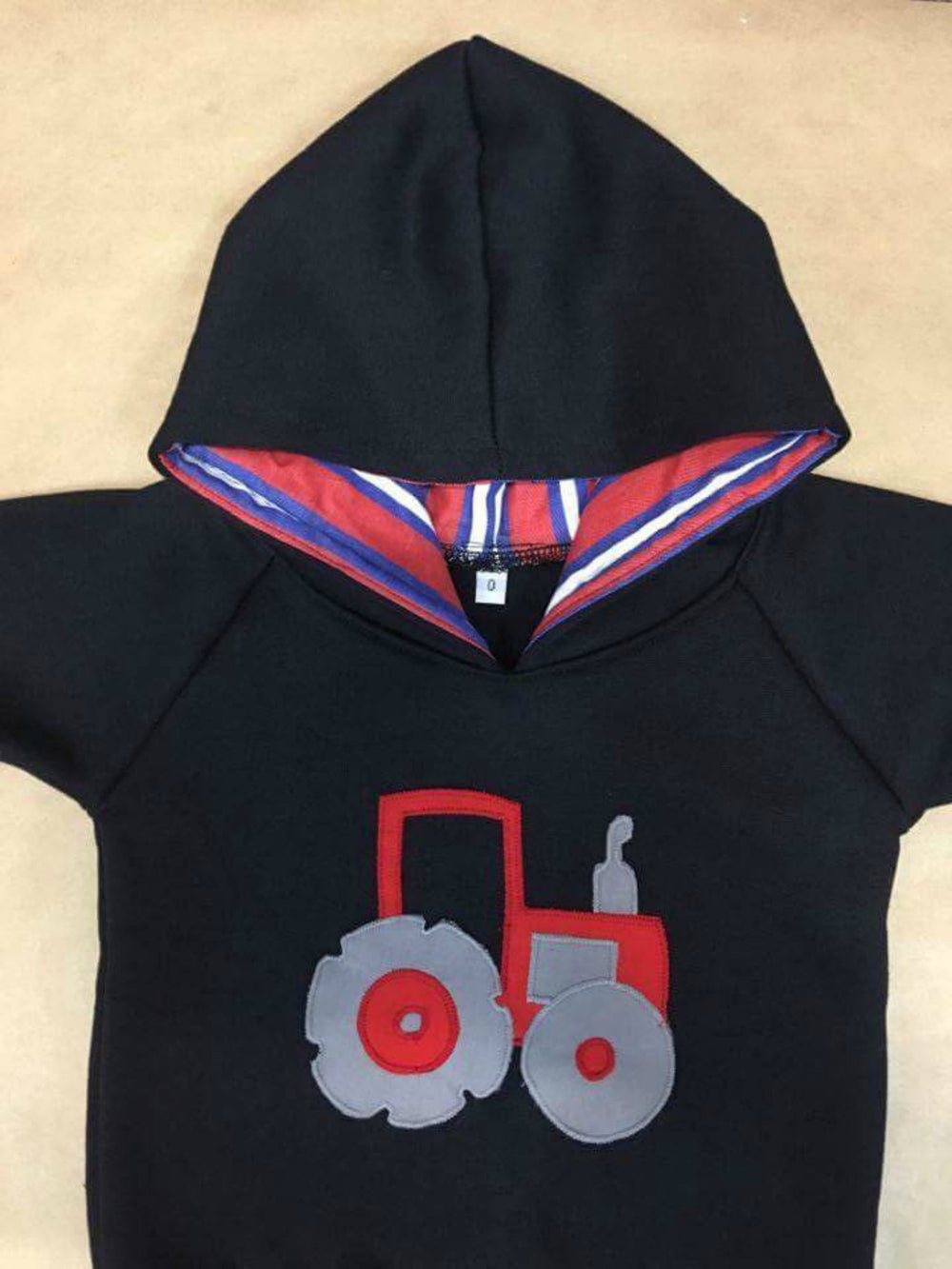 Hoodie | Red Tractor on Navy