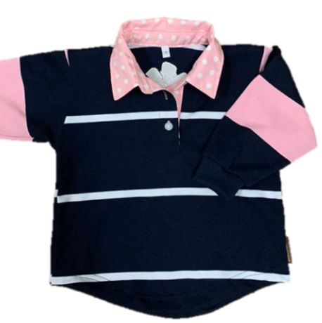 Swampcreek Rugby | Pale Pink & Navy Combo