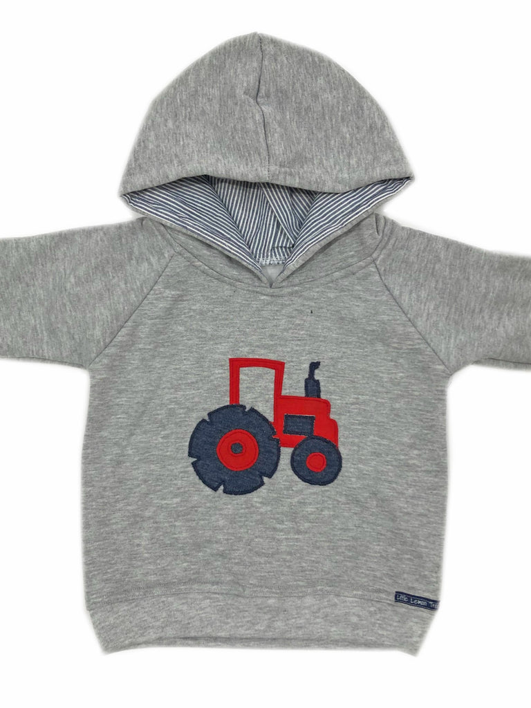 Hoodie | Red Tractor on Grey