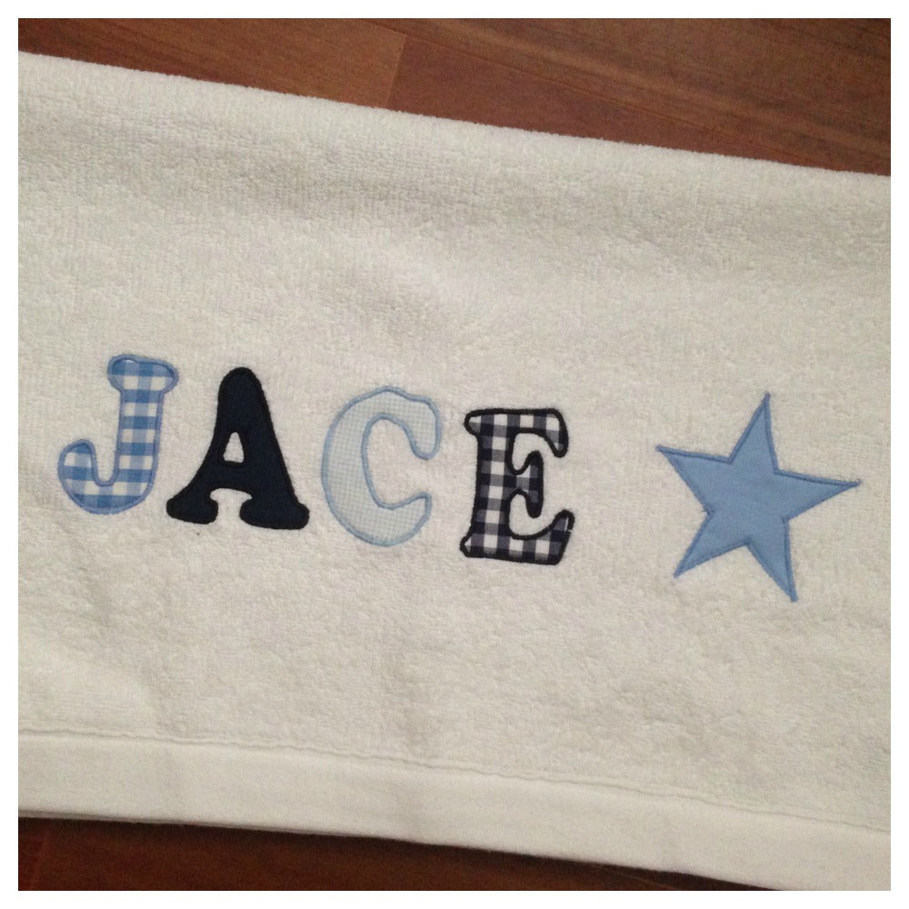 Personalised Bath Towel | White