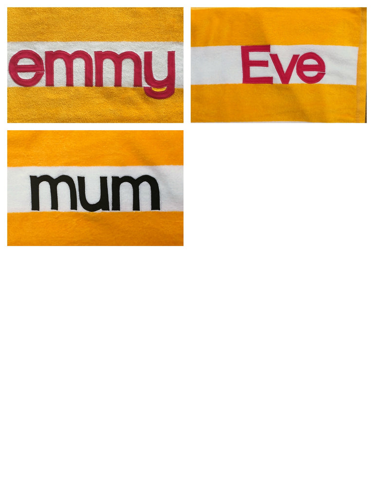 Personalised Beach Towel | Yellow