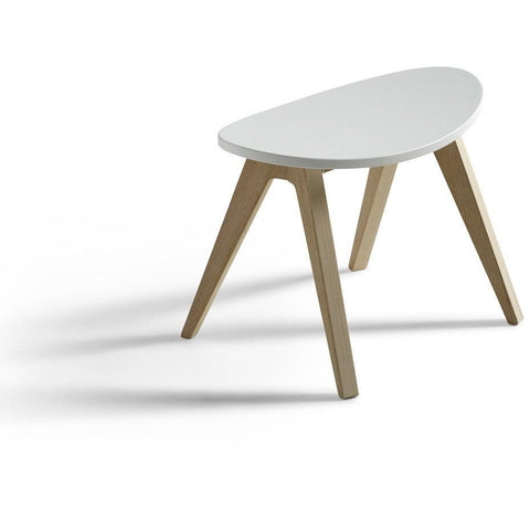 Pingpong, Hocker, weiss/Eiche, Wood Collection
