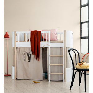 Oliver Furniture Wood Mini+ Halbhohes Hochbett Lowloft Bed