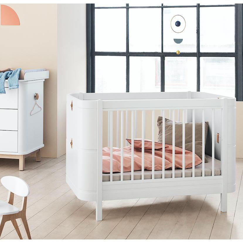 Oliver Furniture Mini+ Wood Collectione Babybett Cot weiss