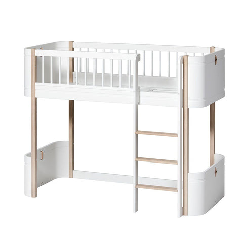 Oliver Furniture Mini+ Wood Halbhohes Hochbett lowloft Bed