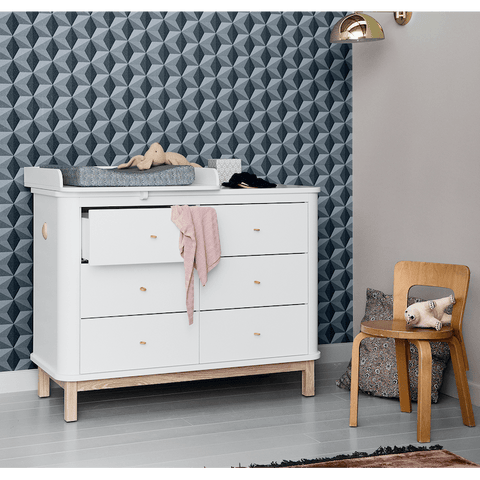 Oliver Furniture Wickelkommode Eiche Wood Collection