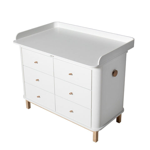 Oliver Furniture Wickelkommode Eiche weiss Wood Collection