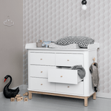 Oliver Furniture Wood Collection Wickelkommode Eiche weiss
