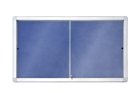 Sliding Showcase with Aluminium Frame - Felt Range