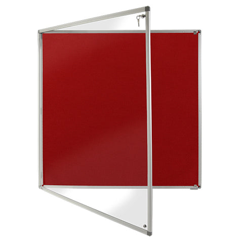 Pitts Presentation 1200 x 900 mm Corded HessianClass 1 Aluminium Framed Noticeboard Red